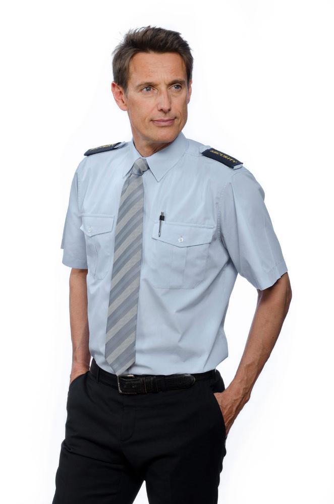 Nordhandel Pilotenhemden, mittelblau, kurzarm