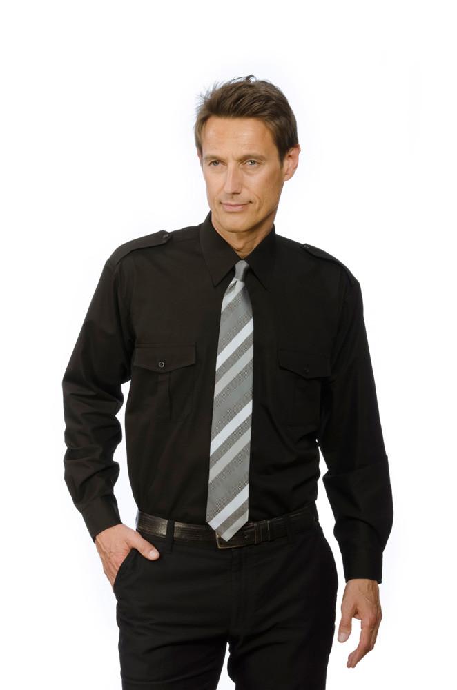 Pilotenhemd mit abnehmbaren Schulterklappen