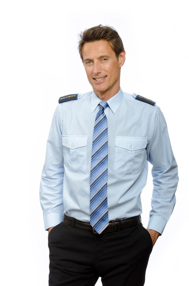 Pilotenhemd mit Tunnel in hellblau