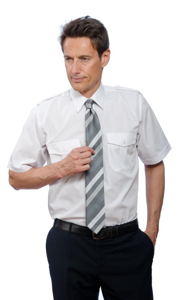 Pilotenhemd 100% Baumwolle kurzarm