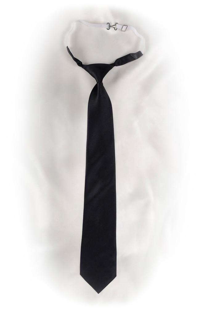 Krawatte mit Gummizug in schwarz