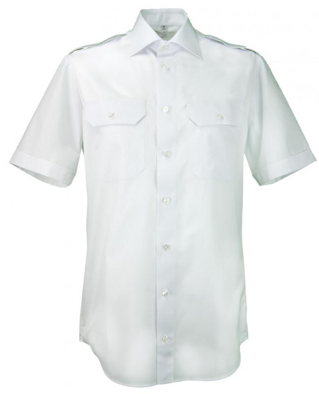Greiff Pilotenhemd mit 80% Baumwolle in kurzamr