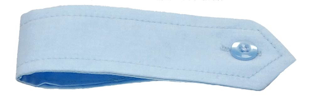 Schulterklappe in hellblau mit Knopf