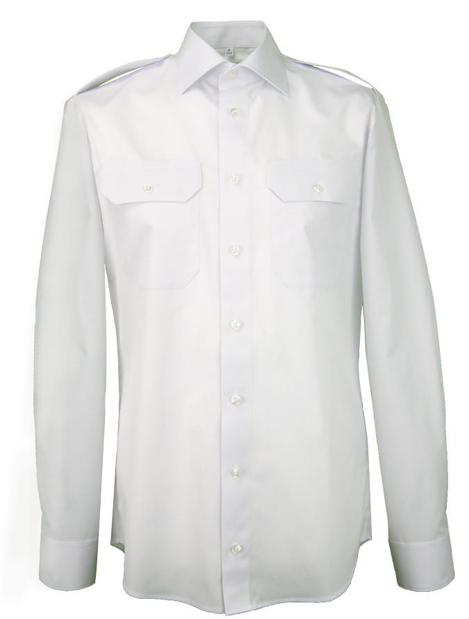 Greiff Pilotenhemd in langarm mit 80% Baumwolle