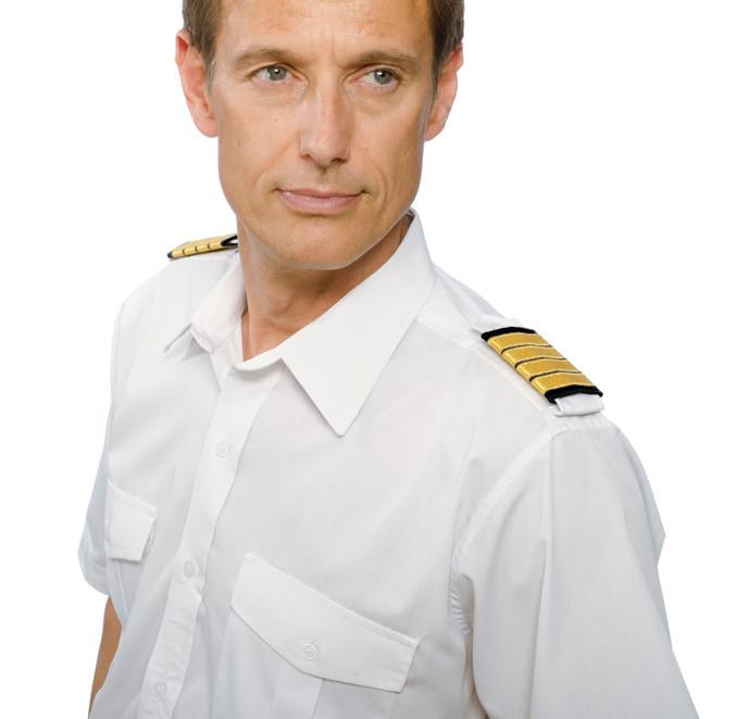 Schulterklappen Pilot gold auf schwarz