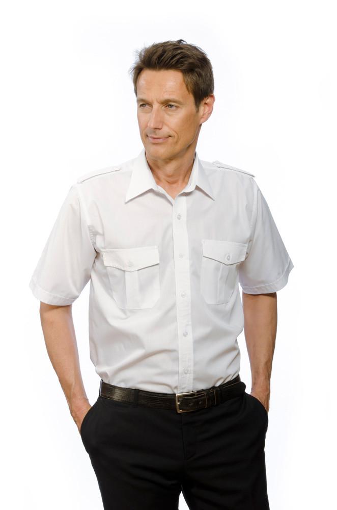 Pilotenhemd Greiff weiß kurzarm